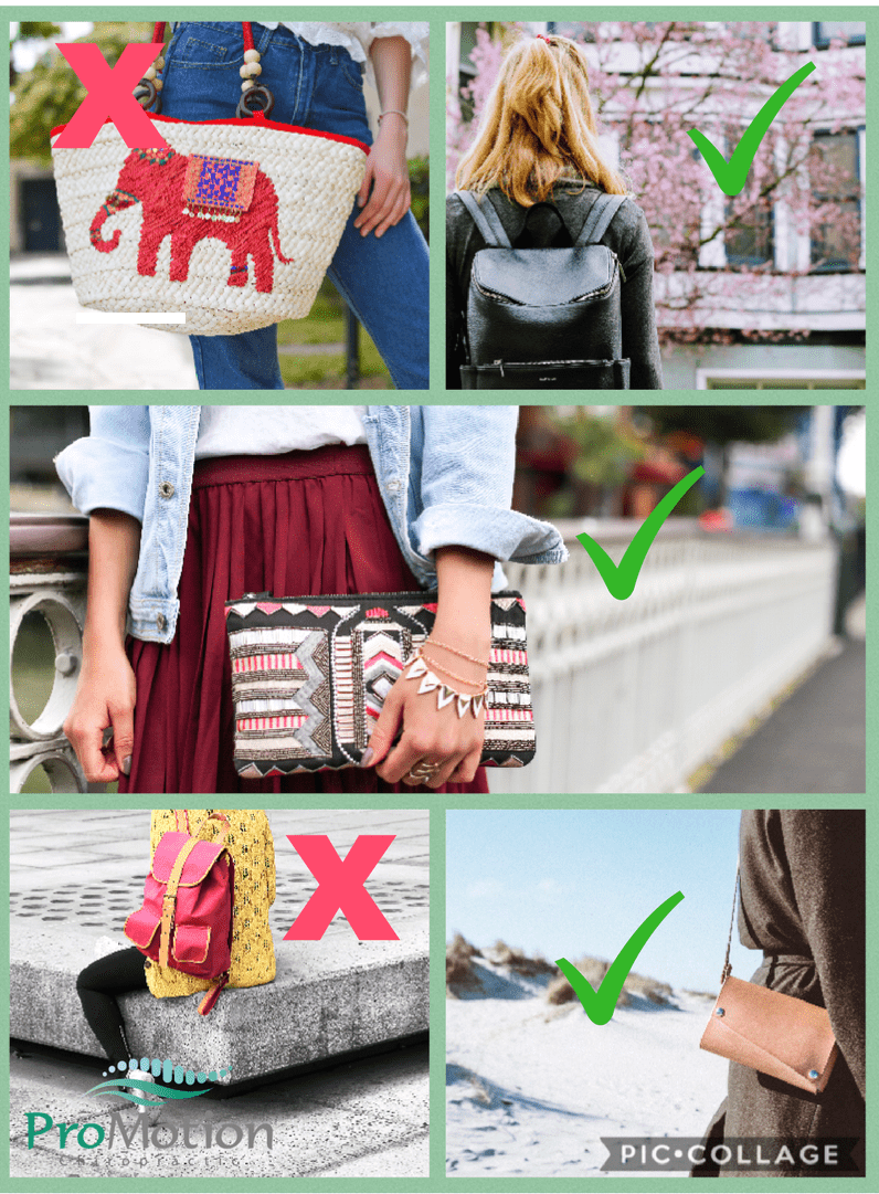 tips to avoid pain while wearing a purse